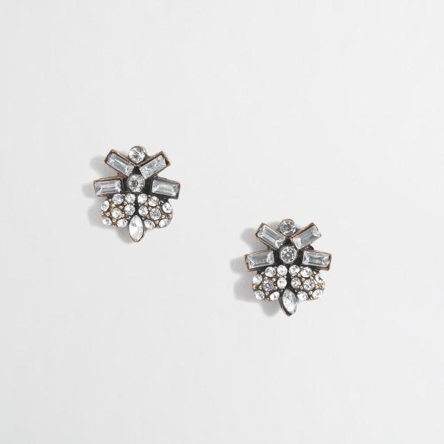 Factory crystal sunrise stud earrings