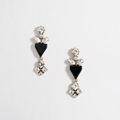 Factory crystal and enamel earrings