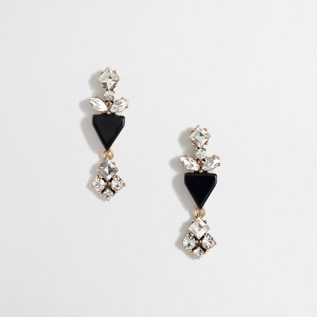 Factory crystal and enamel earrings