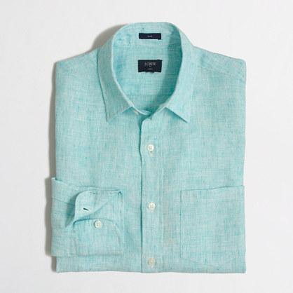Slim linen shirt