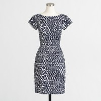 Short-sleeve basketweave dress