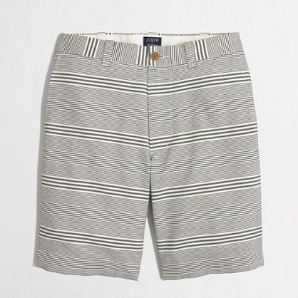 "9"" oxford striped Gramercy short"