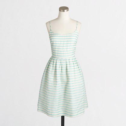 Sheer-stripe dress