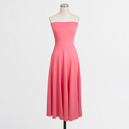 Convertible strapless knit dress