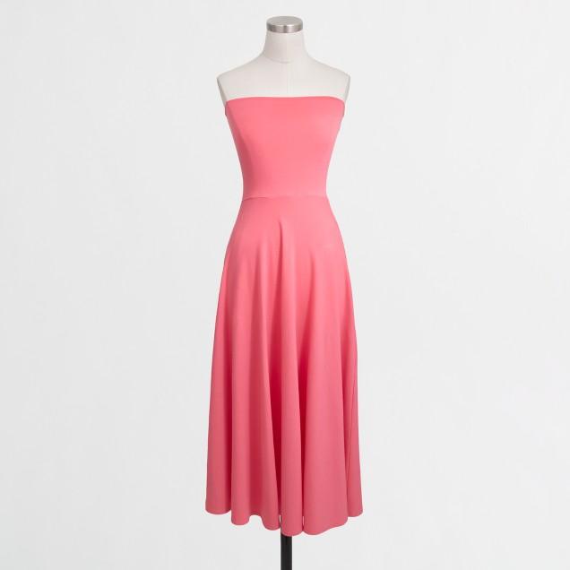 Convertible strapless knit dress