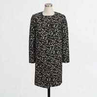 Printed collarless jacket