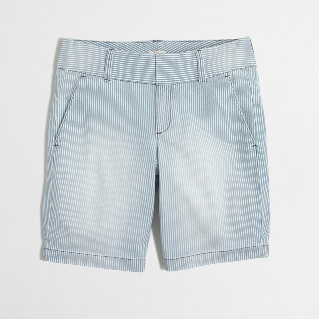 Frankie short in railroad stripe