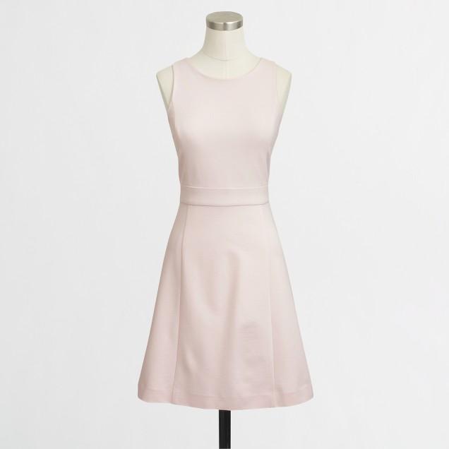 Petite a-line ponte dress