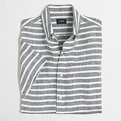 Factory short-sleeve linen shirt