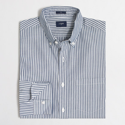 Slim washed shirt in wide stripe