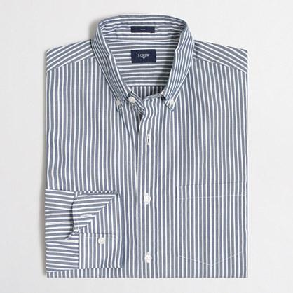 Slim washed shirt in wide stripe