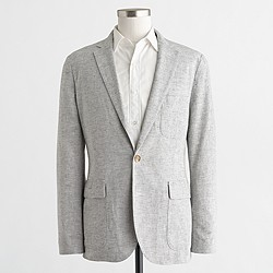 Factory Thompson unconstructed blazer in linen-cotton
