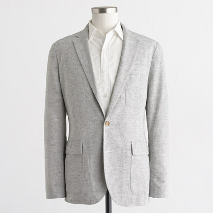 Thompson unconstructed blazer in linen-cotton