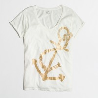 Metallic anchor collector T-shirt in airy cotton