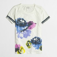 Photo-floral collector T-shirt in airy cotton