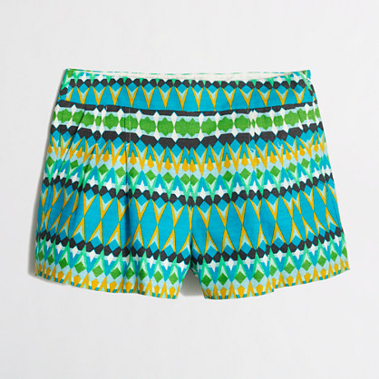 Printed pleated short