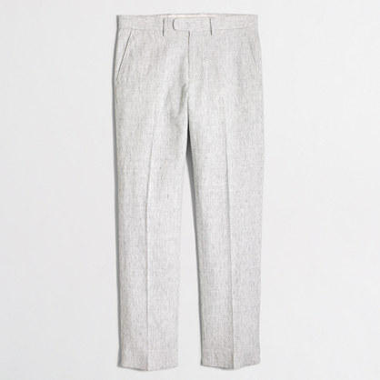 Slim Bedford linen-cotton dress pant