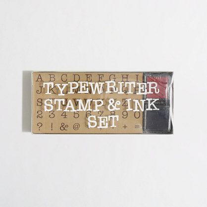 Girls' Natural Products Ltd.™ typewriter stamp & ink set