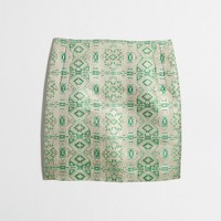 Metallic jacquard skirt