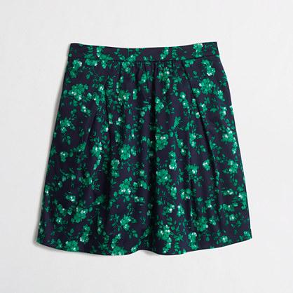 Pocket skirt in green floral
