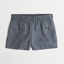 "Factory 3"" boardwalk pull-on short in floral jacquard"