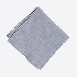 Factory chambray pocket square