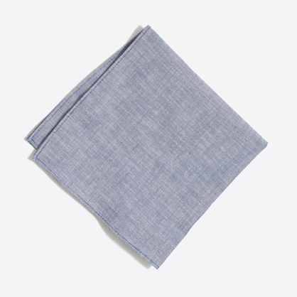 Chambray pocket square