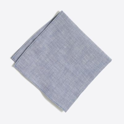 Chambray pocket square factorymen ties & pocket squares c