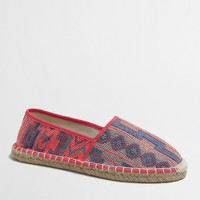 Colorful graphic print espadrilles