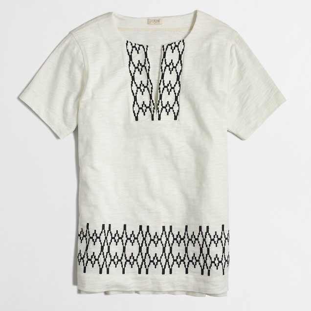 Geometric-trim tunic