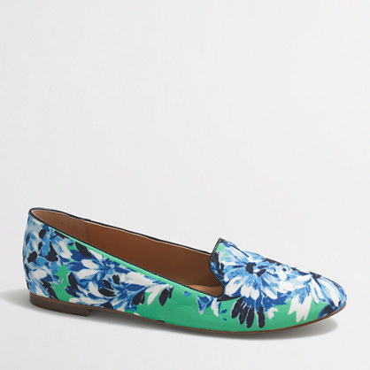 Cara printed nylon loafers