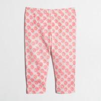 Girls' capri leggings in graphic paisley
