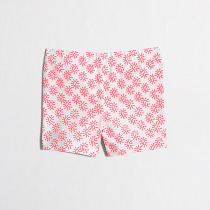 Girls' handstand short in graphic paisley