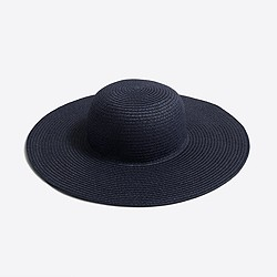 Girls' wide-brim sun hat