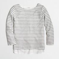 Woven-back top in stripe