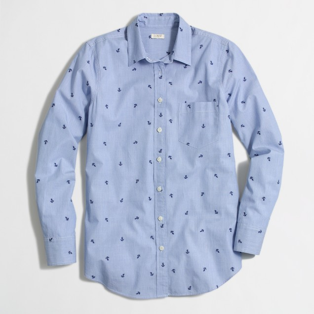 End-on-end shirt in anchor