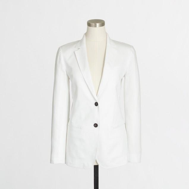 Petite linen blazer