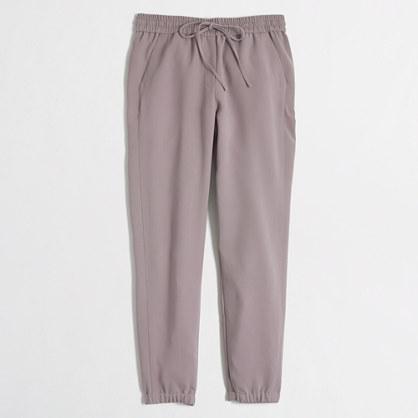 Petite drapey drawstring pant