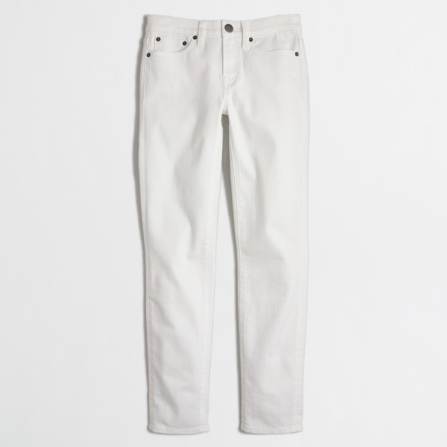 Skinny cropped jean in white