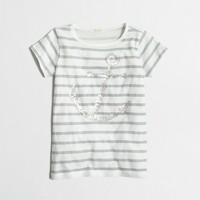Girls' stripe sequin anchor keepsake t-SHIRT