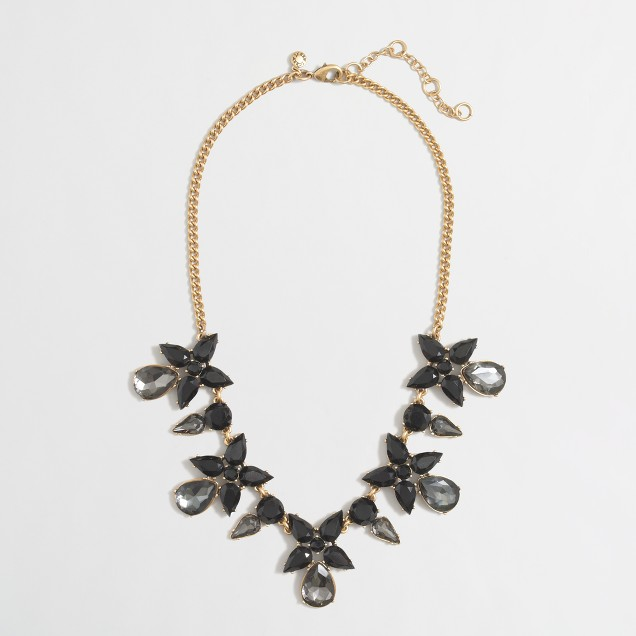 Factory flower drop necklace