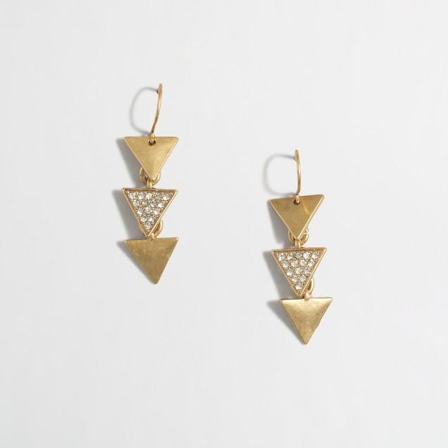 Factory triangle dangle earrings