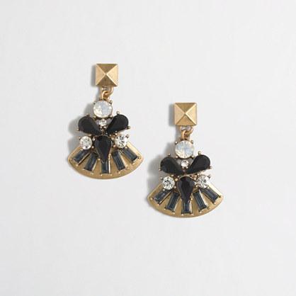Factory golden fan earrings