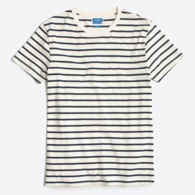 Slim deck-striped T-shirt factorymen slim c