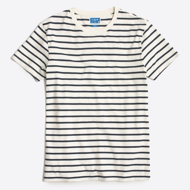 Slim deck-striped T-shirt