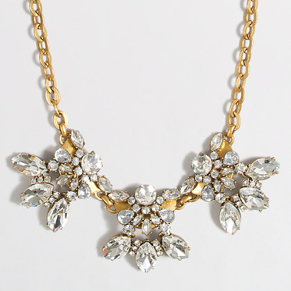 Factory crystal petal clusters necklace