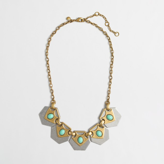 Factory geometric collage necklace