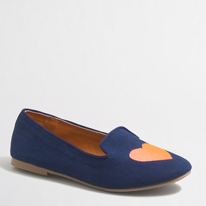 Girls' canvas loafers