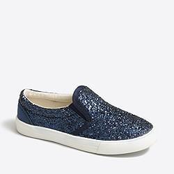 Factory girls' glitter slip-on sneakers