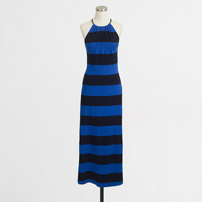 Rugby-stripe maxi dress